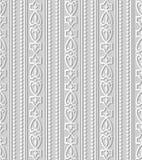 3D het Kaderlijn van Diamond Check Curve Cross Crest van de Witboekkunst stock illustratie
