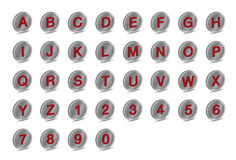 3D het pictogram drijft Alfabetdoopvont A-Z uit Stock Fotografie