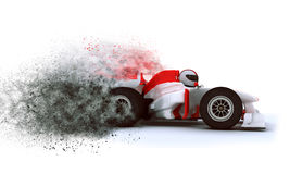 3D het Rennen kaart met snelheidseffect Royalty-vrije Stock Foto