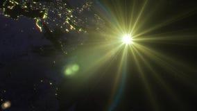 3D het teruggeven aarde van ruimte tegen de achtergrond royalty-vrije illustratie