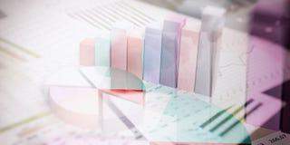3d het teruggeven abstracte bar en cirkeldiagrammen Stock Foto