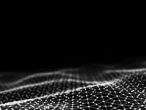 3d het teruggeven Abstracte futuristische punten en lijnen structuur van de computer de geometrische digitale verbinding Stock Fotografie