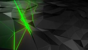 3D het teruggeven abstracte veelhoekige ruimte lage poly met het verbinden van oppervlakte Royalty-vrije Stock Foto's