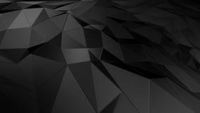 3D het teruggeven abstracte veelhoekige ruimte lage poly met het verbinden van oppervlakte Stock Afbeeldingen
