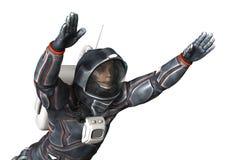 3D het Teruggeven Astronaut op Wit Royalty-vrije Stock Afbeeldingen