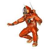 3D het Teruggeven Astronaut op Wit Stock Afbeeldingen