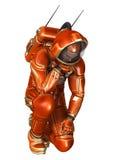 3D het Teruggeven Astronaut op Wit Royalty-vrije Stock Fotografie