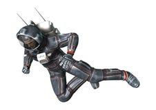 3D het Teruggeven Astronaut op Wit Royalty-vrije Stock Foto's