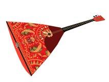 3d het teruggeven Balalaika De Russische mensen stringed muzikaal instrument stock illustratie