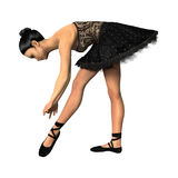 3D het Teruggeven Ballerina op Wit Stock Afbeelding
