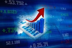 3d het teruggeven bedrijfsgrafiek en documenten Stock Foto's