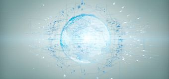 3d het teruggeven bol van de gegevensaarde op een achtergrond Stock Afbeelding