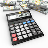 3d het teruggeven calculator Stock Fotografie