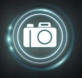 3D het teruggeven camerapictogram Royalty-vrije Stock Afbeeldingen