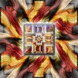 3D het teruggeven combokunstwerk Stock Afbeeldingen