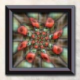 3D het teruggeven combokunstwerk in elegant kader Royalty-vrije Stock Foto's