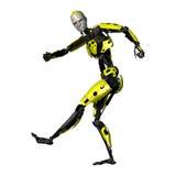 3D het Teruggeven Dansende Robot op Wit Royalty-vrije Stock Fotografie