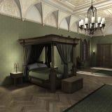3D het Teruggeven Donker Paleis Royalty-vrije Stock Foto's