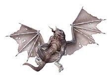 3D het Teruggeven Draak van de Fantasievampier op Wit Stock Afbeelding