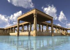 3D het Teruggeven Egyptisch Paleis Royalty-vrije Stock Foto's