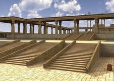 3D het Teruggeven Egyptisch Paleis Royalty-vrije Stock Fotografie