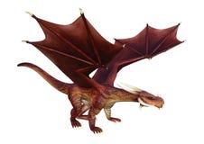 3D het Teruggeven Fantasiedraak op Wit Royalty-vrije Stock Foto's