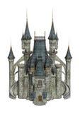 3D het Teruggeven Fantasiekasteel op Wit Stock Afbeelding
