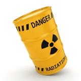 3D het teruggeven Geel radioactief vat royalty-vrije illustratie
