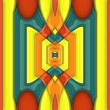 3D het teruggeven glanzende kunstwerk van de ornamenttegel Royalty-vrije Stock Fotografie