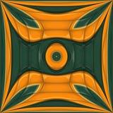 3D het teruggeven glanzende kunstwerk van de ornamenttegel Royalty-vrije Stock Foto