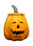 3D het Teruggeven Halloween Pompoen op Wit Stock Foto