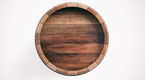 3d het teruggeven houten vat op witte achtergrond royalty-vrije illustratie