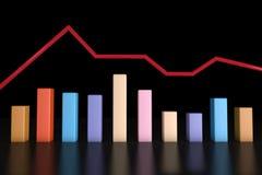 3d het teruggeven informatie-grafische bar Royalty-vrije Stock Afbeelding