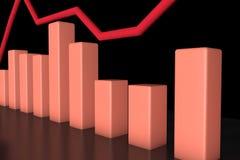 3d het teruggeven informatie-grafische bar Royalty-vrije Stock Foto's