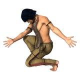 3D het Teruggeven Inheemse Amerikaanse Mens op Wit vector illustratie