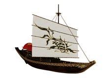 3D het Teruggeven Kleine Chinese Boot op Wit Stock Foto's