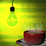 3d het teruggeven Kop van koffie Royalty-vrije Stock Foto's