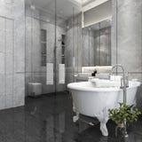 3d het teruggeven luxebadkamers in hotel Royalty-vrije Stock Afbeeldingen