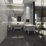 3d het teruggeven luxebadkamers in hotel Stock Fotografie