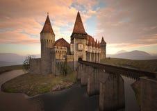 3D het Teruggeven Middeleeuws Kasteel vector illustratie