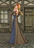 3D het Teruggeven Middeleeuwse Dame vector illustratie