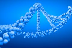 3d het teruggeven molecule van DNA Stock Fotografie
