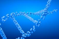 3d het teruggeven molecule van DNA Stock Foto