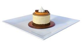 3D het Teruggeven Mousse op Wit Royalty-vrije Stock Fotografie