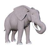 3D het Teruggeven Olifant op Wit Stock Foto's