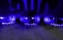 3d het teruggeven pompoen voor Halloween Stock Afbeelding