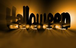 3d het teruggeven pompoen voor Halloween Royalty-vrije Stock Afbeelding
