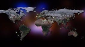 3D het teruggeven samenvatting van wereldnetwerk, Internet en globaal verbindingsconcept Elementen van dit die beeld door NASA wo Royalty-vrije Stock Foto