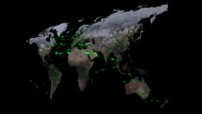 3D het teruggeven samenvatting van wereldnetwerk, Internet en globaal verbindingsconcept Elementen van dit die beeld door NASA wo Stock Foto