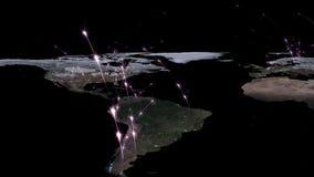 3D het teruggeven samenvatting van wereldnetwerk, Internet en globaal verbindingsconcept Elementen van dit die beeld door NASA wo Stock Afbeeldingen